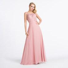 Alagirls элегантное платье подружки невесты с блестками, платье без рукавов с открытой спиной, длинное розовое платье в пол, платья размера плюс(Китай)