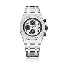 Switzerland Королевский Rolexable автоматические механические мужские часы модный стальной ремень три глаза водонепроницаемые часы relogio masculino(Китай)
