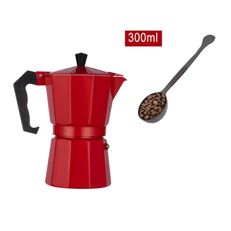 GUNOT Кофе итальянский производитель мокко Кофе горшок Алюминий мокко Эспрессо кофеварка горшок 150/300/450 мл Кофе чайник бариста инструменты(Китай)