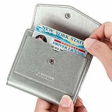 Маленький кожаный кошелек для женщин, женский Карманный Кошелек с радиочастотной блокировкой и держателем для кредитных карт, Дамский коше...(Китай)