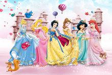 Виниловые обои для детской комнаты, 3D мультяшный медведь, животные, розовая комната принцессы для мальчиков и девочек, Настенный декор для с...(Китай)