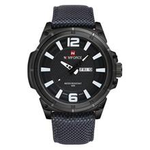 NAVIFORCE военные часы, мужские Модные Повседневные парусиновые Кожаные Спортивные кварцевые наручные часы, мужские часы(Китай)
