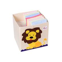 ikea Кабинет Коллекции Новинка, 13 дюймов, мультяшный куб для животных, коробка для хранения, складная, моющаяся ткань Оксфорд, тканевые ящики д...(Китай)