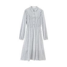Женское платье с длинным рукавом, платье с отложным воротником и цветочным узором, inman 2020(Китай)