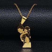 Женская цепочка из нержавеющей стали, колье и подвески золотого цвета, подарок на день матери, N537S01(Китай)