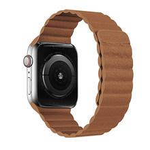 Магнитный ремешок для apple watch кожаный ремешок для apple watch ремешок 44 мм 40 мм Замена iWatch серии 5 4 3 2 1 ремешки для часов(Китай)