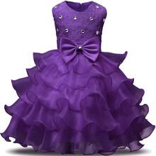 Рождественское платье для девочек; Детские платья подружки невесты для девочек; Одежда для девочек; Элегантное свадебное вечернее платье-п...(Китай)
