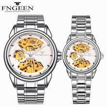 FNGEEN мужские и женские автоматические часы с автоподзаводом, модные роскошные спортивные механические часы, пара часов(Китай)