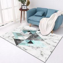 Декор для гостиной, ковер с мраморными полосками, простой скандинавский Декор для спальни, материал на заказ, коврик для защиты пола(Китай)