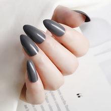 24 шт Искусственные прозрачные синие короткие шпильки поддельные ногти острые акриловые накладные ногти Сделай Сам дизайн ногтей для маник...(Китай)