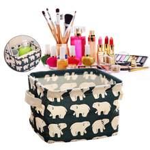 Красивая коробка для хранения стола туалетных принадлежностей Органайзер косметический макияж органайзер для канцелярских принадлежност...(Китай)