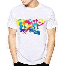 """Мужская футболка с принтом аниме, белая, с круглым вырезом, с коротким рукавом, для улицы, Харадзюку, футболка с принтом """"Ковбой Бибоп""""(Китай)"""