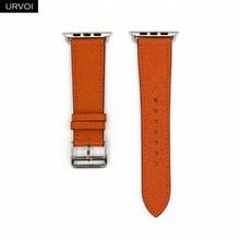 Кожаный ремешок URVOI для apple watch series 5 4 3 2 1 single tour для iwatch ремешок классический дизайн весна 2020(Китай)