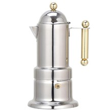 200 мл 4 чашки кофейник из нержавеющей стали Moka Кофеварка чайник фильтр автоматическая кофемашина Эспрессо(Китай)