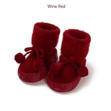 Зимние тапочки для детей ясельного возраста носки для новорожденных хлопковые нескользящие модные осенне-зимние мягкие милые носки для ма...(China)
