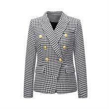 Женский блейзер и костюмы, Осень-зима 2020, клетчатое пальто с птицами, модный офисный женский пиджак на пуговицах, Женский Топ(Китай)