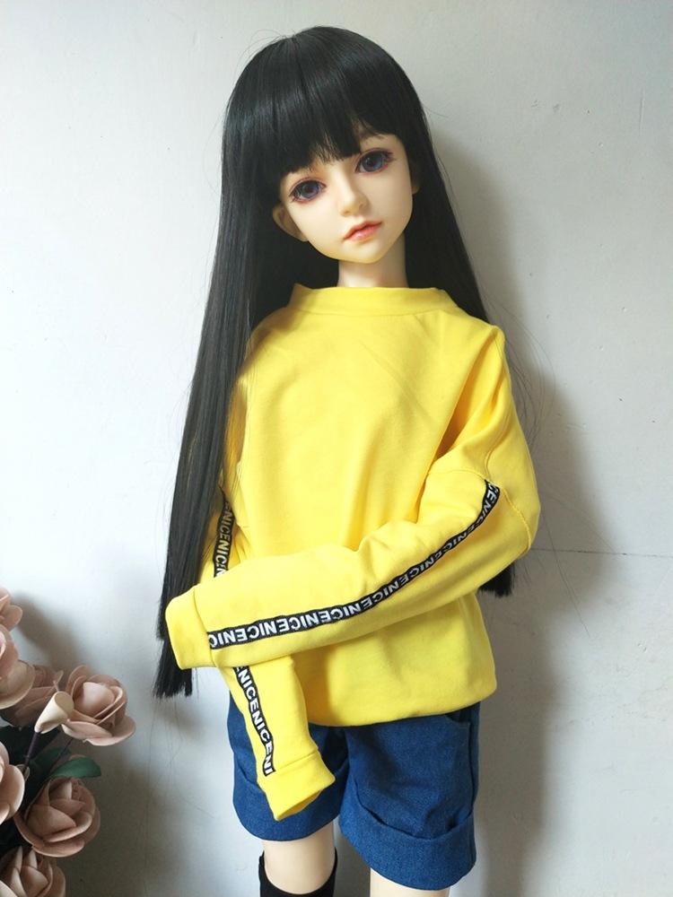 1/3 1/4 1/6 модная кукольная одежда хлопковые Толстовки однотонные аксессуары для кукол Bjd Одежда для девочек игрушка для детей(Китай)