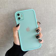 Moskado простой мятный Гибридный Матовый Бампер чехол для телефона для iPhone 11 11Pro X XR XS Max 6 6s 8 7 Plus противоударный мягкий ТПУ задний Чехол(Китай)