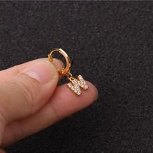 Модные серьги-гвоздики в минималистическом стиле с буквами алфавита, A-Z, сделай сам, ювелирное изделие, подарок для женщин, 2020(Китай)