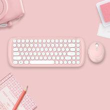 Seenda Беспроводная клавиатура мышь расческа для ноутбука компьютера ноутбука Mac портативный 2,4g USB Беспроводная Клавиатура Набор для офиса до...(Китай)
