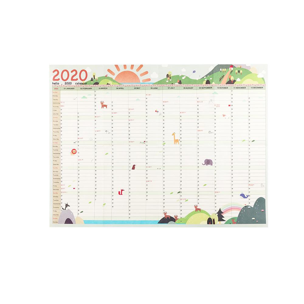 2020 блок ГОД ПЛАНИРОВЩИК ежедневный план настенный бумажный календарь EVA Mark наклейки для офиса школы дома agenda escolar Новинка(Китай)