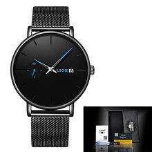 2020 LIGE, женские часы, Топ бренд, Роскошные водонепроницаемые часы, модные женские ультра-тонкие кварцевые наручные часы из нержавеющей стали,...(Китай)