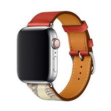 Новый кожаный браслет-петля для apple watch серии 5 4 44 мм 40 мм браслет-ремешок для часов iwatch 42 мм 38 мм Серия 1 2 3(Китай)