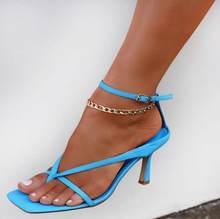 Женские винтажные пляжные ножные браслеты в стиле ретро, богемные сандалии с подвеской в виде колокольчика, сандалии до щиколотки(Китай)