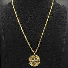 Цепочка на шею из нержавеющей стали, цепочка на шею для мужчин, ожерелье золотого цвета, украшения N18982, 2020(Китай)