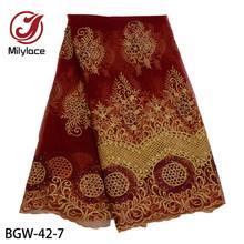 Кружевное платье с кружевной вышивкой Millylace, вечерние кружевные туфли кораллового цвета с бисером во французском стиле, свадебные платья вы...(Китай)