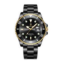Мужские кварцевые часы, люксовый топ-бренд 2020, зеленые водонепроницаемые часы, мужские спортивные наручные часы с датой, черные Relogio Masculino(Китай)