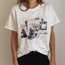 Женская модная футболка с коротким рукавом Harajuku, мягкая Эстетическая летняя одежда для девушек, Белый Топ, летний топ, милый топ(China)