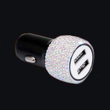1 шт. 2 порта автомобильное usb-устройство для зарядки телефона двойное быстрое автомобильное зарядное устройство USB 12-24 в автомобильный usb-пор...(Китай)