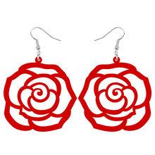 ARWA акриловые большие круглые полые розы, цветы серьги-подвески в форме капли украшения для женщин девочек подростков шармы для вечеринки по...(Китай)
