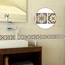 ПВХ самоклеющиеся 3D наклейки на стену граница кухня ванная комната окантовочная линия наклейка Съемная современная плитка обои водонепрон...(Китай)
