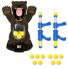 Детский мягкий пулевой пистолет, балл, мишени, утки, детские игрушки для стрельбы, шутер, пенный шар, Боевая игрушка, Воздушная мощная воздуш...(Китай)