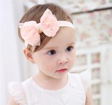 Детская повязка на голову, Корейская повязка на голову с цветами для новорожденных, аксессуары для волос для маленьких девочек, украшения д...(Китай)