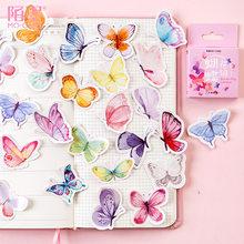 40 шт. милые наклейки с бабочками милые надписи с животными подарки для детей на ноутбук чемодан Гитара Холодильник велосипедный автомобиль(Китай)