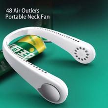 2020 Новый мини подвесной вентилятор для шеи USB Перезаряжаемый вентилятор воздушный охладитель портативный вентилятор с лямкой на шее для сп...(Китай)