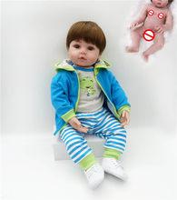 NPK Лидер продаж 48 см Полный тела силиконовые reborn малыша куклы реалистичные мягкие touch bebe кукла Водонепроницаемая игрушка для ванной(Китай)