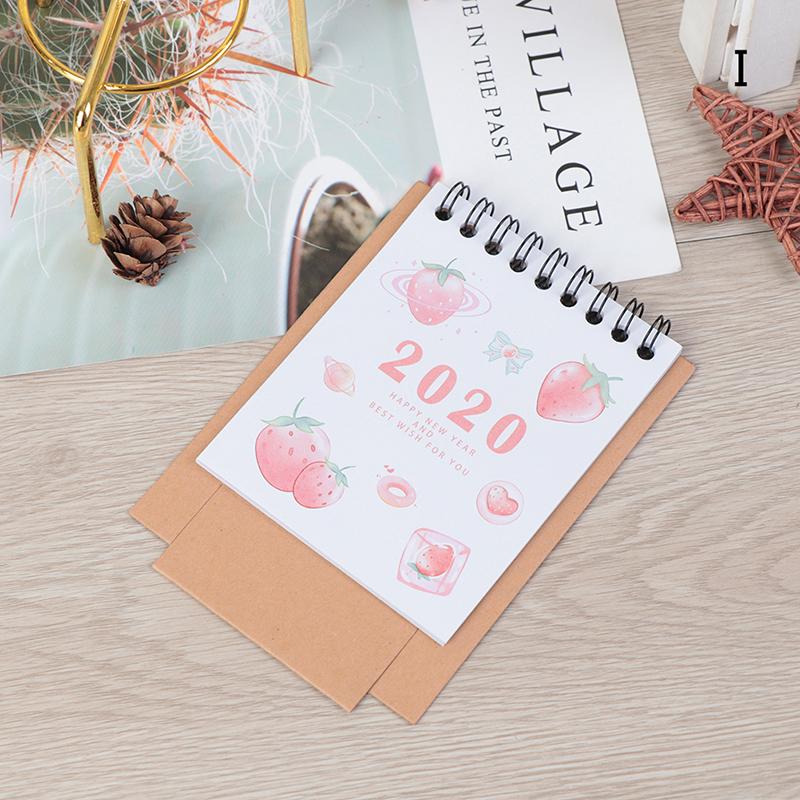 2020 Новый мультяшный мини Фламинго Настольный бумажный календарь двойной ежедневный расписание Настольный планировщик годовой Органайзер(Китай)