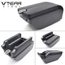 Автомобильный подлокотник Vtear для Citroen C1, кожаный подлокотник, USB, ящик для хранения, Двойной центральный подлокотник, аксессуары для украшен...(Китай)