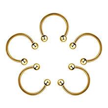 Один кусок 6 мм 8 мм 10 мм красочные поддельные пирсинг носа кольцо Пирсинг промышленные 316L стали поддельные пирсинг для пупка кольцо серьги(China)