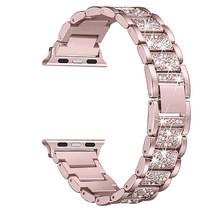 Часы-браслет для наручных часов из нержавеющей стали ремешок для наручных часов Apple Watch 1/2/3, 42 мм, 38 мм, роскошный ремешок для часов для наручн...(Китай)