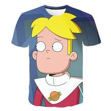 Забавная футболка с 3D-принтом Lego Star Wars для мальчиков, летняя одежда для детей, уличная одежда для девочек 2020(Китай)