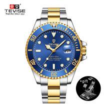 Мужские Роскошные Механические часы со стальным ремешком, водонепроницаемые автоматические деловые часы, новинка 2020(Китай)