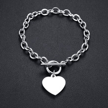 Мужские и женские ожерелья с сердечками Vnox, ожерелья из нержавеющей стали, Подарочные Цепочки унисекс(Китай)