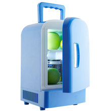Мини 12V автомобильный небольшой холодильник для кемпинга мини холодильник и грелка достаточно вместительный 4L холодильник для хранения фр...(Китай)
