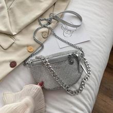 Женская поясная сумка со стразами, летняя многофункциональная поясная сумка-Кроссбоди с полными бриллиантами, женская наплечная сумка(Китай)