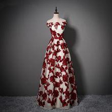 JaneVini элегантное кружевное длинное платье подружки невесты, сестры, женское свадебное платье бордового цвета с бантом, бальное платье для вы...(China)